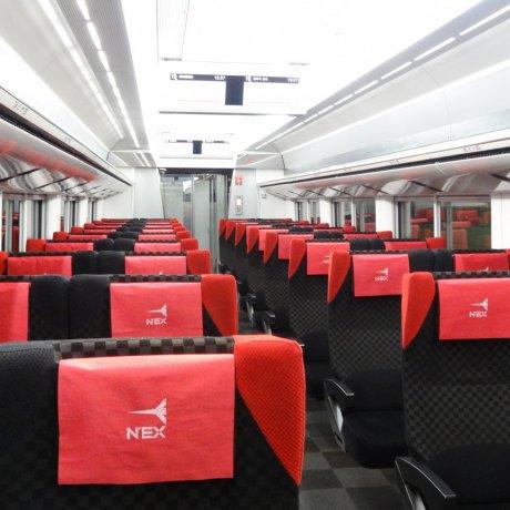 Taking N'EX from Narita to Tokyo