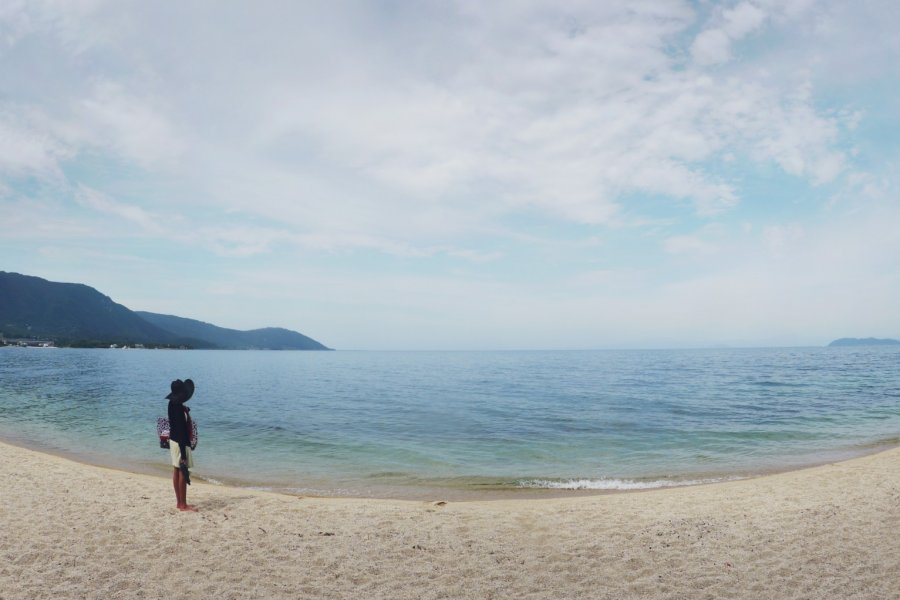 Omimaiko Beach at Lake Biwa