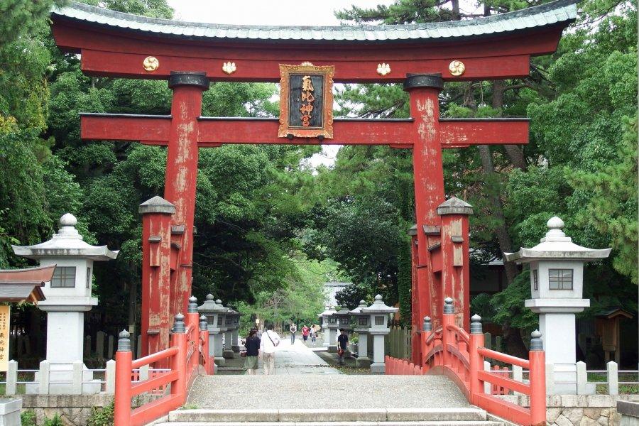 Kehi Jingu Shrine in Tsuruga, Fukui