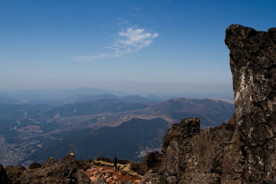 Climbing Mount Yufu, Kyushu
