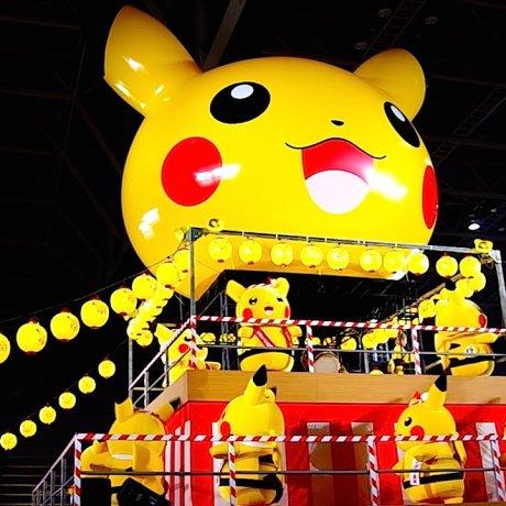 Pikachu Going Viral in Yokohama