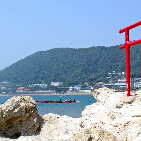Isshiki Beach Hayama in the Summer