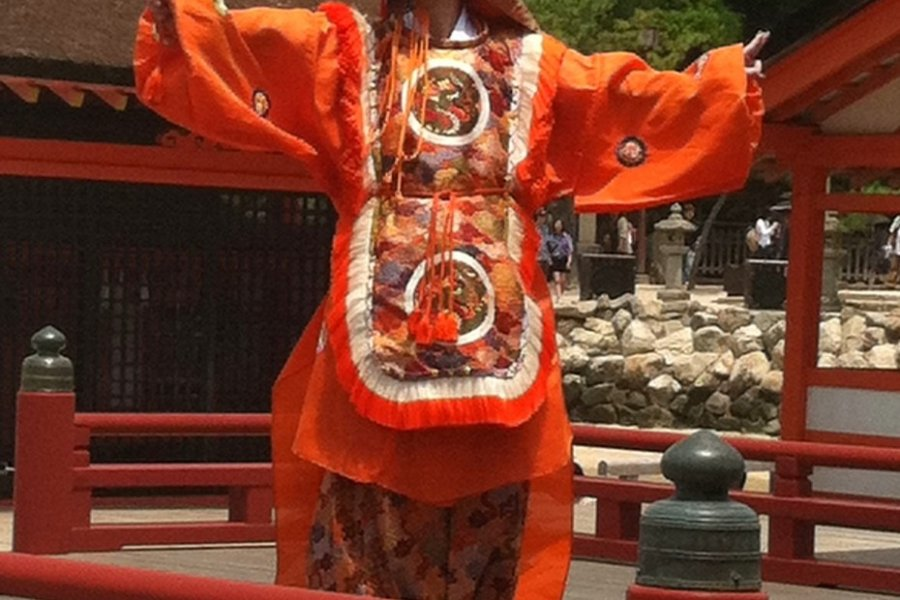 Bugaku at Itsukushima Shrine