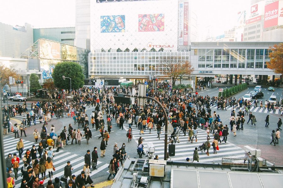 Shibuya Crossing in Photos