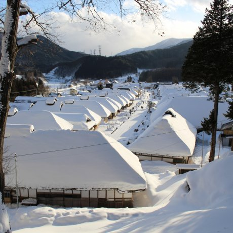 Ouchi-juku under Snow