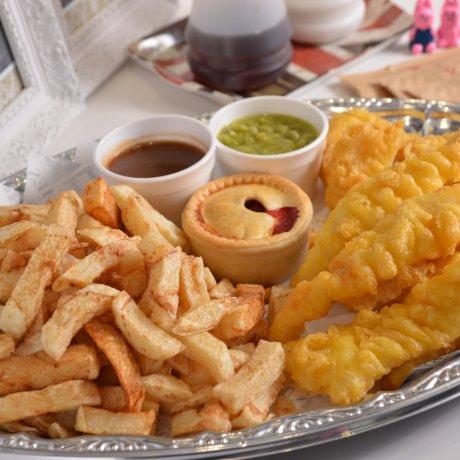 """Fish and Chips at """"Malins"""""""