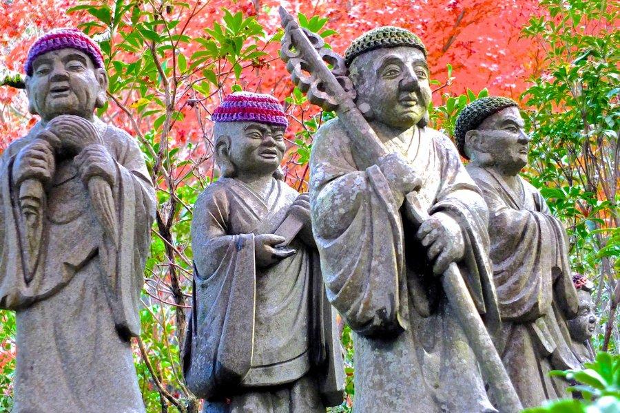 Miyajima's Impressive Rakan Statues
