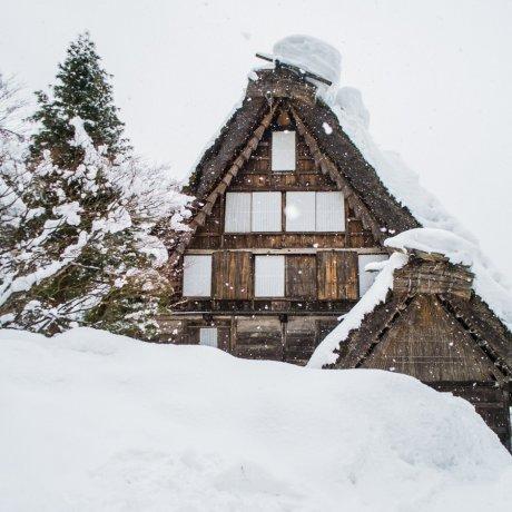 Winter Scene of Hida Folk Village