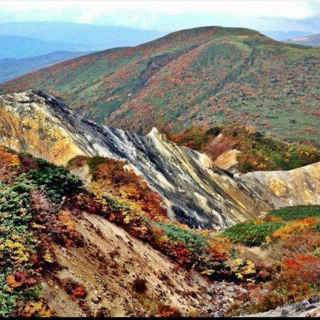 Mount Akita-Komagatake in Autumn