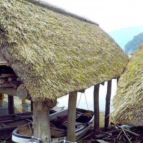 Pretty Boathouses near Lake Mikata