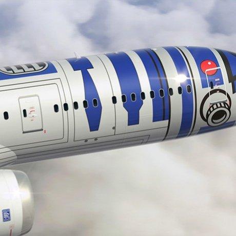 Star Wars R2-D2 ANA Jet Revealed