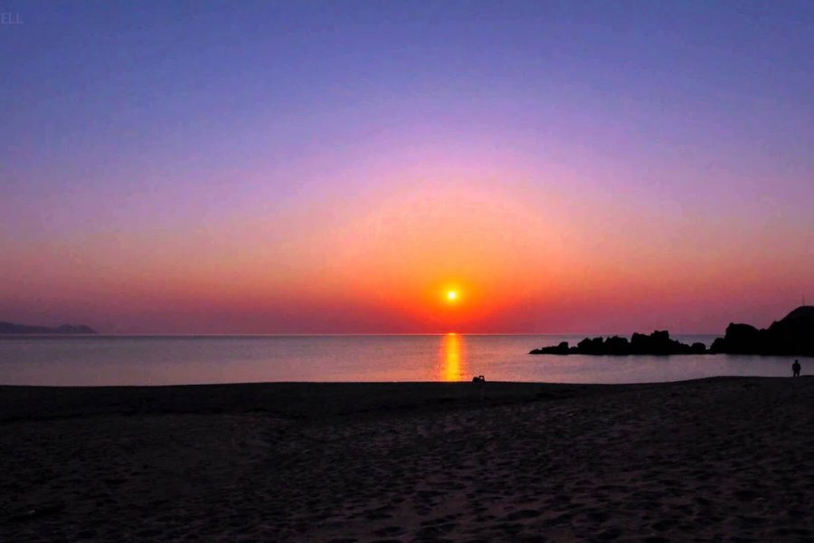 Sunset Over Suisho-hama Beach