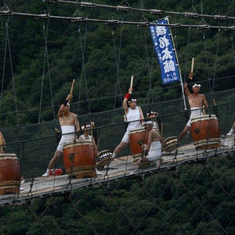 Swinging Taiko at the Tsuribashi Festival