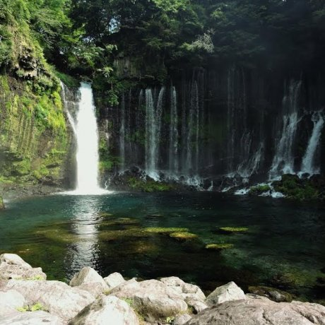 Beautiful Waterfalls in Fujinomiya