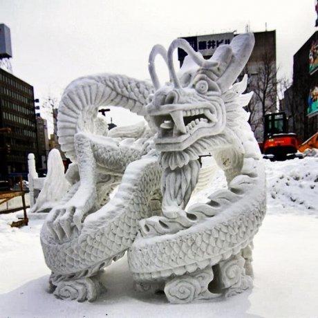 Visiting Sapporo Snow Festival (2012)