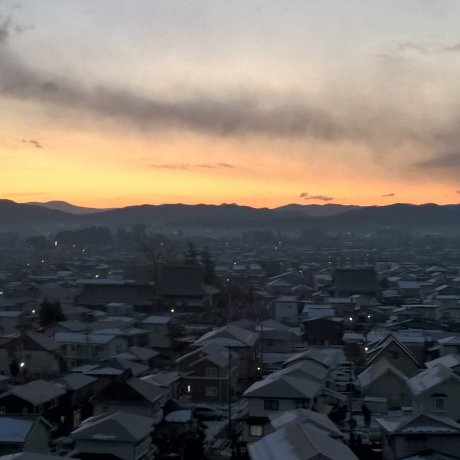 First Sunrise over Hanamaki 2016
