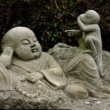 Zodiac Statues at a Buddhist Temple