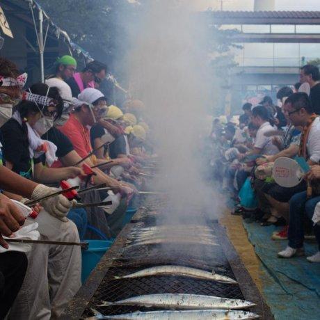 Tokyo's Sanma Festival