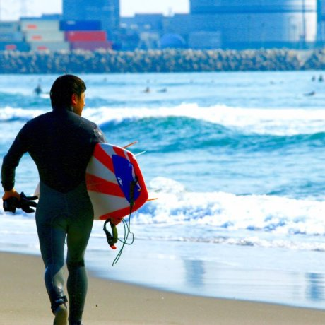Surfing Near Sendai Port
