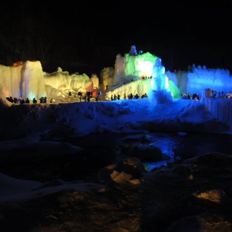 Winter Wonderland Of Sounkyo Onsen