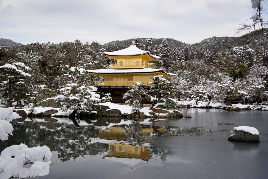 Kinkakuji Winter Scenery