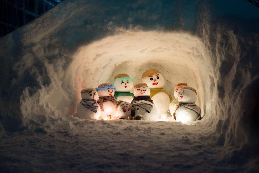 Yukidaruma Snowman Festival
