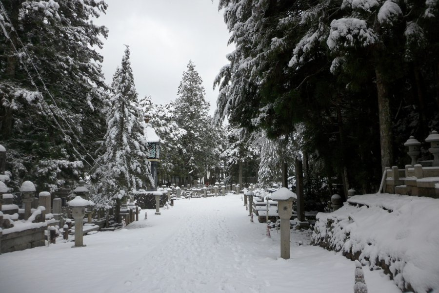 Mount Koya and Okunoin in Winter