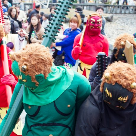 Oni Fest on Mt. Yoshino, Nara