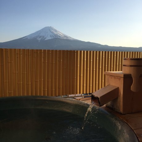 Onsen Ryokan with Mt Fuji Views