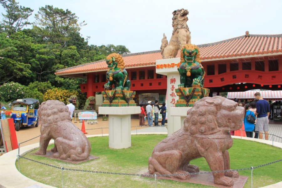 The Shisa Dogs of Okinawa World