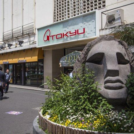 Moyai Statue in Shibuya