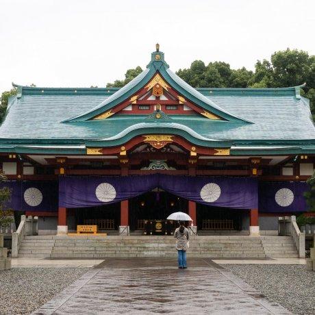 Hie Shrine on a Rainy Day