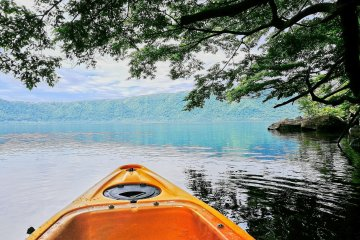 Kayaking on Towada Lake