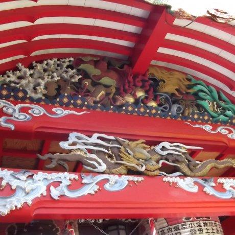 Kasamori Inari Shrine in Matsumoto