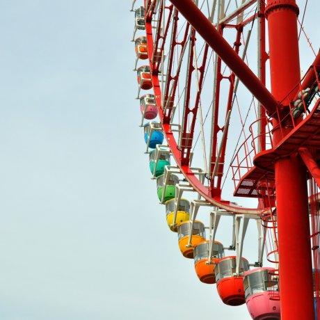 Daikanransha Ferris Wheel in Odaiba