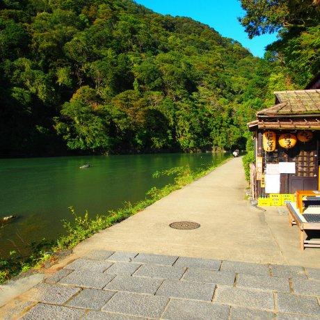 เดินเล่นริมน้ำที่อะระชิยะมะ เกียวโต