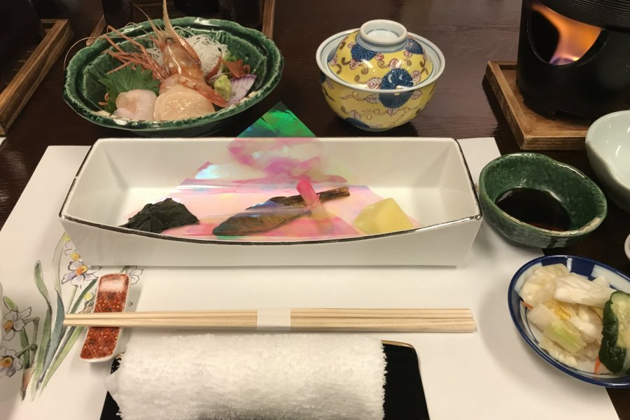 Dining at Hot Spring Lodge Daiichi