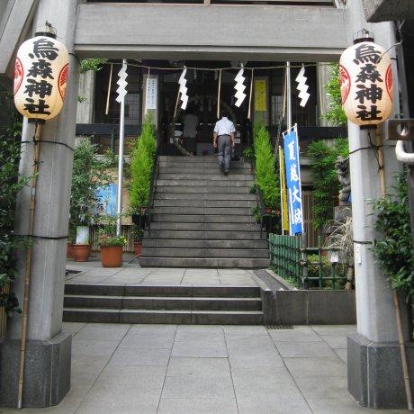 Karasumori Shrine in Shimbashi