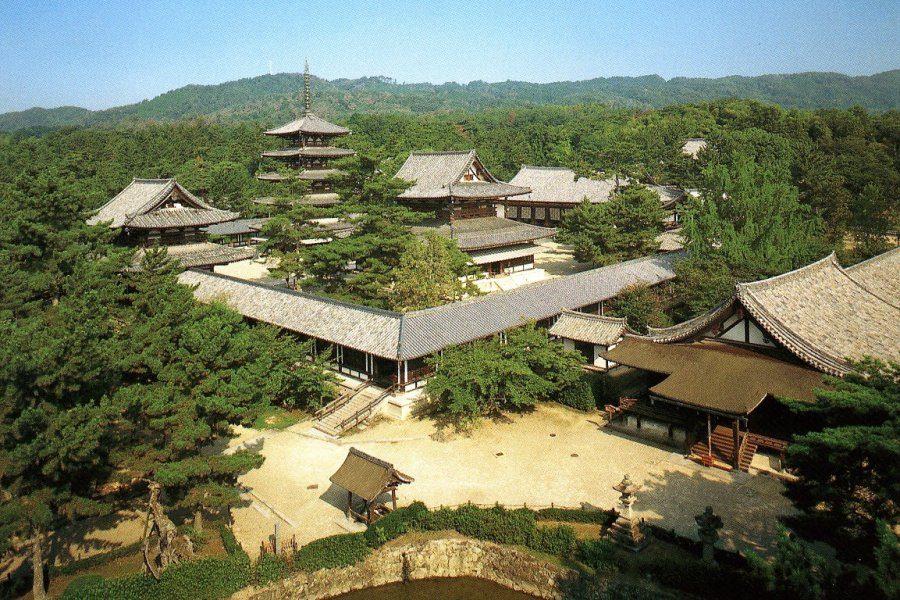 Hōryūji Temple in Nara