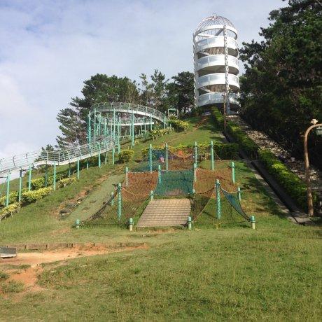 Tobaru Park's Big Slide in Chatan
