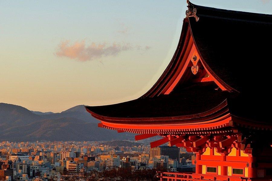 Great Sunset from Kiyomizu-dera